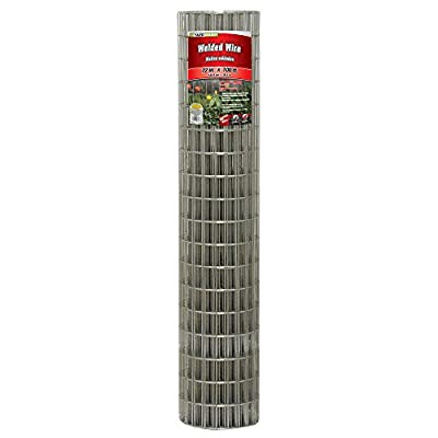 YARDGARD 308314B 2 Inch by 4 Inch Mesh, 72 Inch by 100 Foot 14 Gauge Galvanized Welded Wire Fence