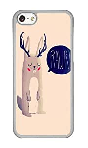 Apple Iphone 5C Case,WENJORS Awesome Fearsome Critter Hard Case Protective Shell Cell Phone Cover For Apple Iphone 5C - PC Transparent