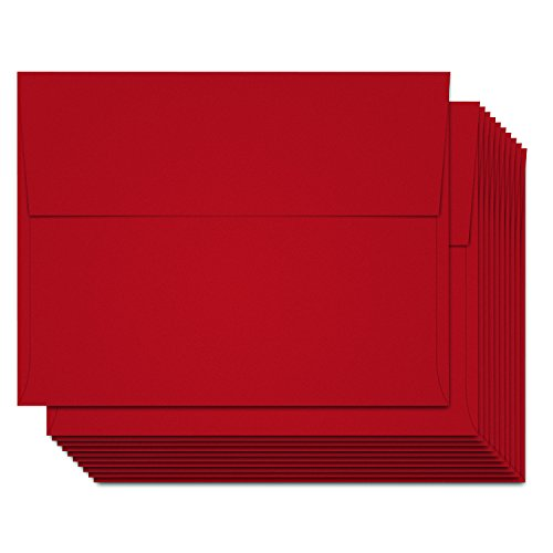 Red A6 Envelopes - Set of 50-4.75 inches by 6.5 inches - Perfect for Holiday Christmas (Christmas Envelope)
