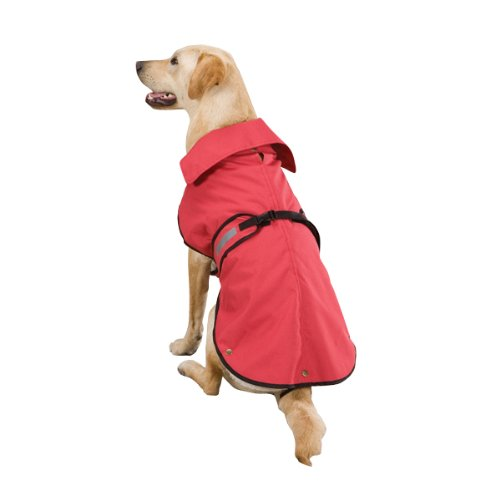 Zack and Zoey Polyester Ripstop Ranch Dog Coat, Large, Red, My Pet Supplies