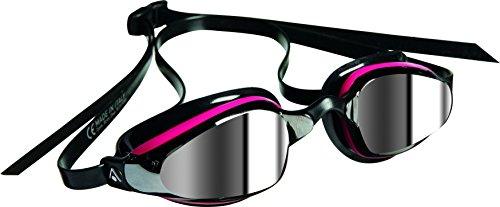 Aqua Sphere K180 - Gafas de bucear para mujer (con lentes reflectantes), unisex, color rosa - rosa y negro, tamaño n/a