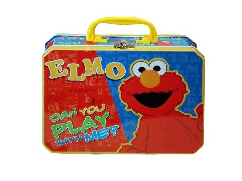 (Lunch Box - Sesame Street - Elmo - Metal Tin Case w/ Plastic Handle & Clasp)