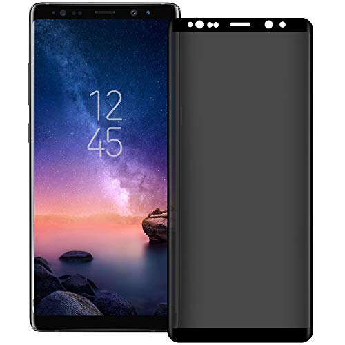 Galaxy Note 8/Note 9 Privacy Screen Protector [Upgrade Version] [3D Curve] Anti-spy...