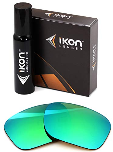 Polarized Ikon Iridium Replacement Lenses for Oakley Holbrook Sunglasses - Emerald Green ()