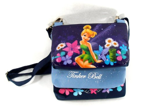(Disney Tinker Bell Triple Compartment Shoulder Bag - White Lily)