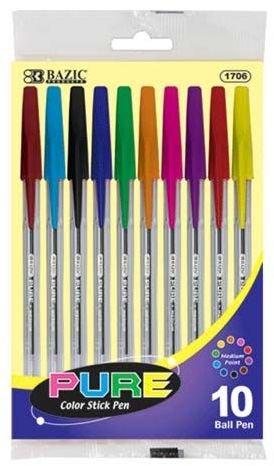 Ddi 10 Pure Neon Color Stick Pen (Pack Of 144)