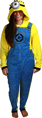 Despicable Me Men's Minion Hooded Union Suit, Banana Yellow, -