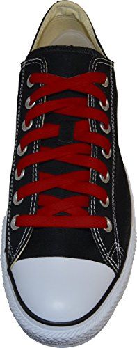 My Shoe Laces Flat Shoelaces 5/16 Wide Athletic Replacement Lace For Sneakers and Shoes (Red, 36)