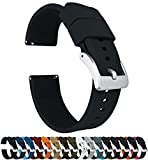 Barton Elite Silicone Watch Bands - Quick Release - Choose Strap Color & Width - Black 20mm
