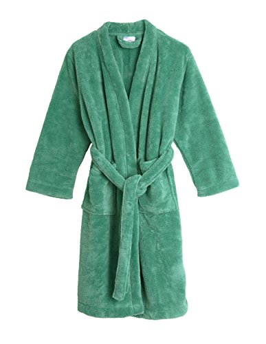 TowelSelections Little Boys' Kimono Plush Robe Soft Fleece Bathrobe Size 6 Winter Green