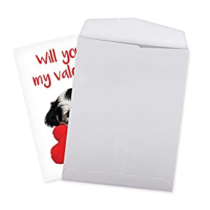 """J3470VDG Jumbo Humor Valentine's Day Card: Puppy Heart, with Envelope (Big Size: 8.5"""" x 11"""")"""