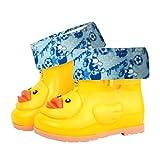 Kids Rain Shoes,Infant Cartoon Duck Rubber Waterproof Durable Warm Boots Children