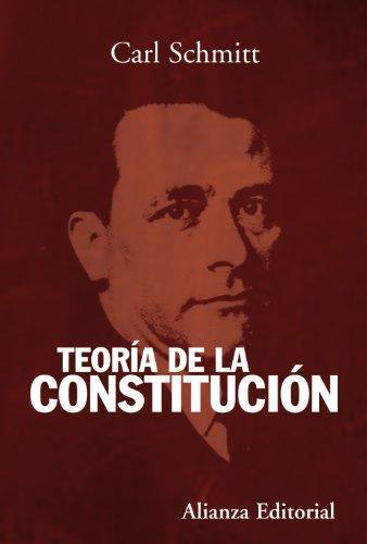 Descargar Libro Teoría De La Constitución Carl Schmitt