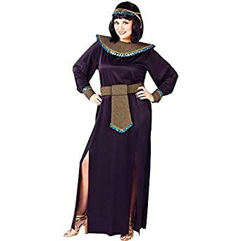 Amazon.com: Black/gold Cleopatra Adult Plus Costume: Clothing
