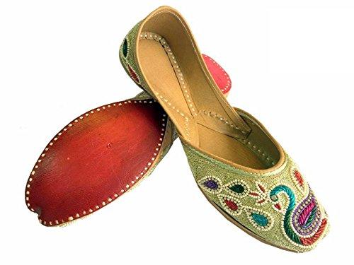 paon Khussa Femmes Chaussures N jutti Style Zari amp; panjabi dabka travail conception Étape qUR1F