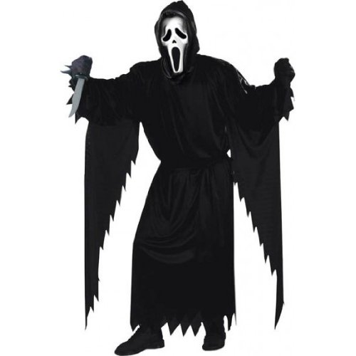 Scream Adult Costume Robe & Mask Set- Plus (Scream Ghostface Costume)