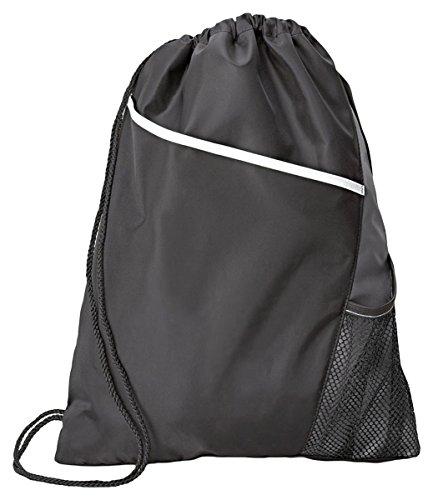 Gemline Drawstring Bag 4976 Surge Sport Cinchpack Black