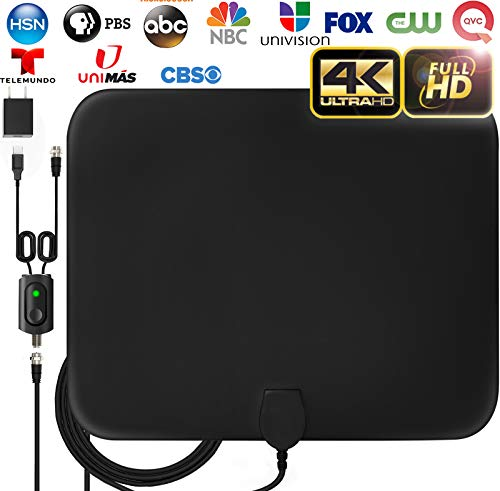 [LATEST 2020] Amplified HD Digital TV Antenna Long 120 Miles Range - Support 4K 1080p Fire tv Stick and All Older TV