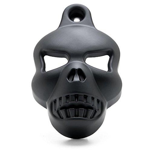 Horn Cover Skull (Krator NP001-B Black Cover (Motorcycle Harley Davidson (1992-2014) Skull Head Stock Cowbell Horns))