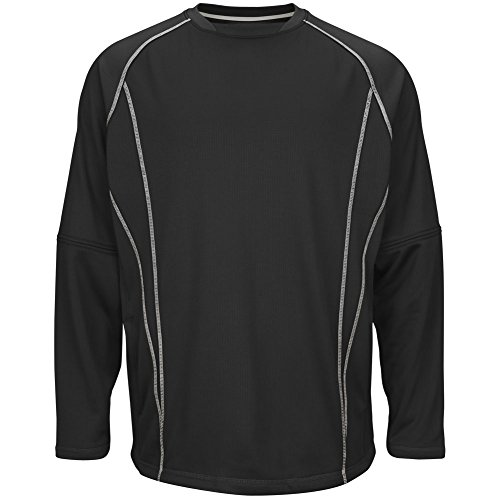 Majestic Men's Fleece Practice Pullover Black/Silver 2XL from Majestic