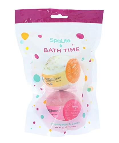 SpaLife Bath Time Bath Bomb 2 Pack (Chamomile & Candy)