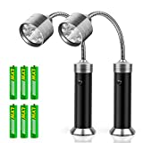 KOSIN Barbecue Grill Light Magnetic Base Super-Bright LED BBQ Lights - 360 Degree Flexible Gooseneck, Weather Resistant, Batteries Included - Pack of 2