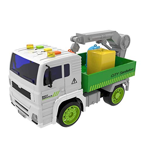 Crane Truck Toys Construction Toys Friction Powered Truck with Light and Sound, Birthday Gifts for Kids ( Batteries Included )