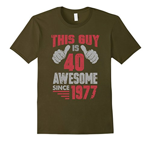 Mens Vintage Born in 1977 40th Birthday Gifts 40 This Guy Awesome XL Olive