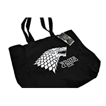 Game of Thrones 871001002764 Stark Canvas Tote, Black