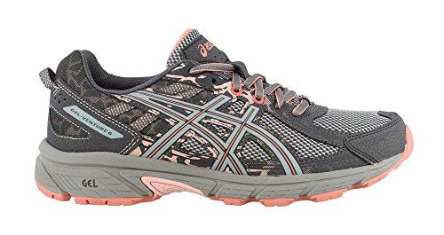 ASICS Womens Gel-Venture 6 Carbon/Mid Grey/Seashell Pink Running Shoe - 6.5