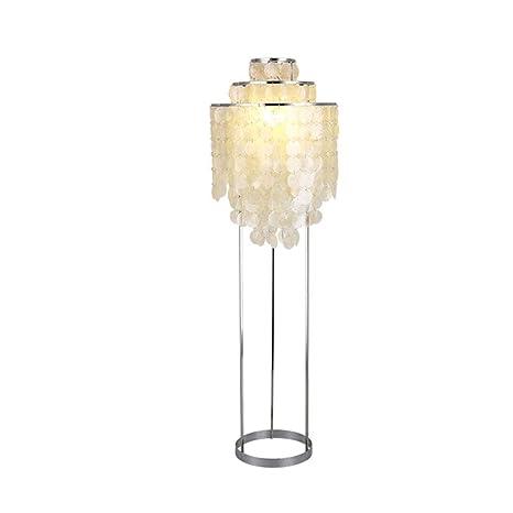 Minimalista moderna LED Shell Lámpara de pie Cálido ...