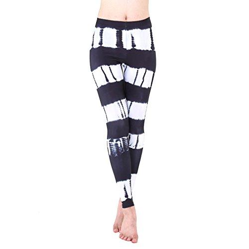 SANOMY Women Sexy High Waist 3D Print Yoga Pants Compression