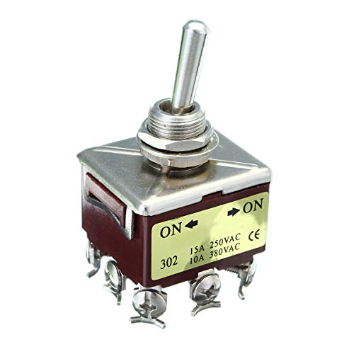 BIG DOT OF JOYCE Voltage Toggle Type A Switch for Industrial Grade 9-Pole 25A 250VAC KN302 120/240VAC ON-ON(Off) Voltage Toggle Switch for Portable Diesel & Gasoline Generators