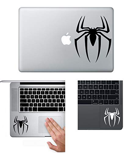 A&B Traders Marvel's Spiderman Stickers Spider Logo Vinyl Decal Sticker for MacBook, Air, iPad, Laptop, Car/Bike, Wall ABD-4511 (3.1, Black)