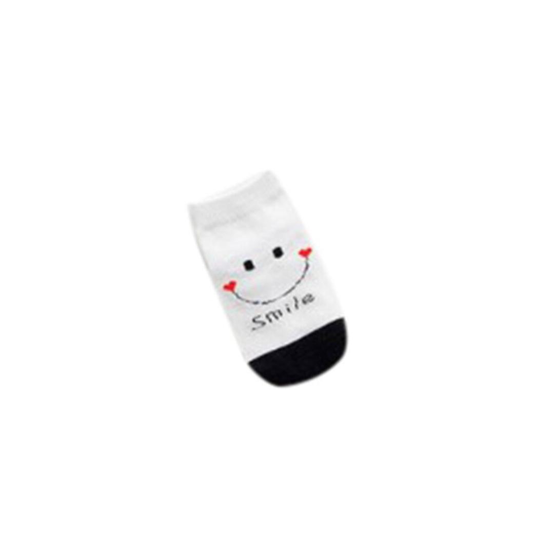 Girls Boys Anti-Slip Smile Cute Slipper Boat Socks Digood Suit for 1-3 Years Old Kids