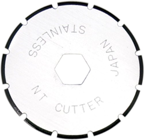NT Cutter 28mm Rotary Perforating Blades for Rotary Cutter, 2-Blade/Pack, 1 Pack (BS-28P)