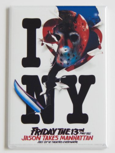 Friday the 13th Part 8 (Jason Loves New York) Movie Poster Fridge Magnet (2 x 3 inches) -