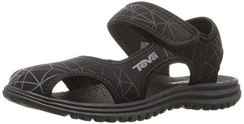 Teva Boys' Tidepool Water Shoe, Black/Grey Print, 9 M US Toddler