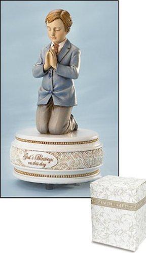 Religious Praying Boy Musical Keepsake Figurine, 6 1/2 Inch