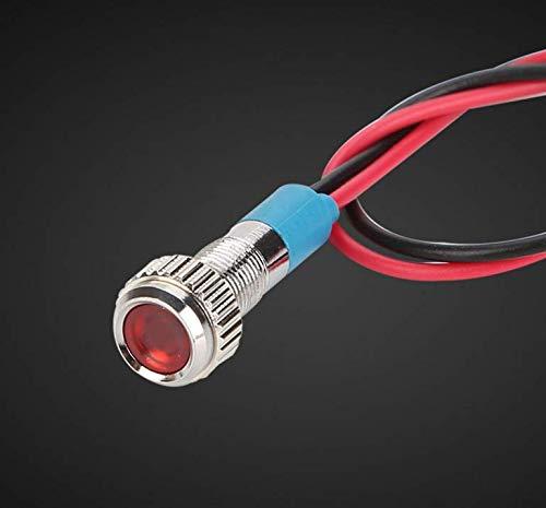Energystation Satz von 5 12V LED-Kontrollleuchte Warnlicht f/ür Auto Boot LKW Van