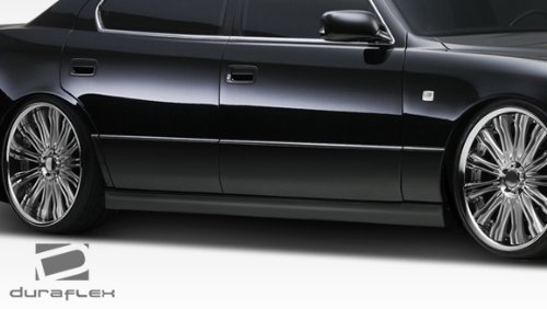 Duraflex Replacement for 1995-2000 Lexus LS Series LS400 VIP Design Side Skirts Rocker Panels - 2 Piece