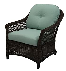 Patio Master BGH05500H60 Bermuda Lounge Chair, All-Weather Wicker, Steel Frame - Quantity 2