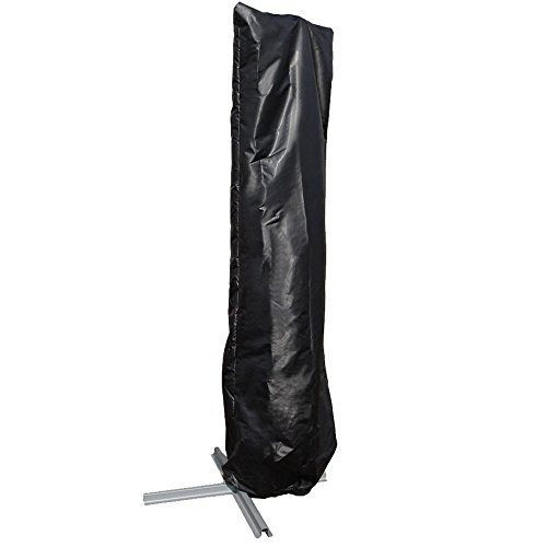 PATIOROMA Offset Outdoor Patio Umbrella Cover, Fits 9' to 11' offset patio Umbrella,Waterproof, Black