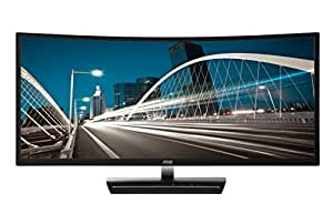"AOC C3583FQ 35"" VA Curved LED Monitor 2560 x 1080 Res, 21:9,160hz, 300 cd/m2, 4ms,VGA/DVI/(2) HDMI/(2) DP, Spk"