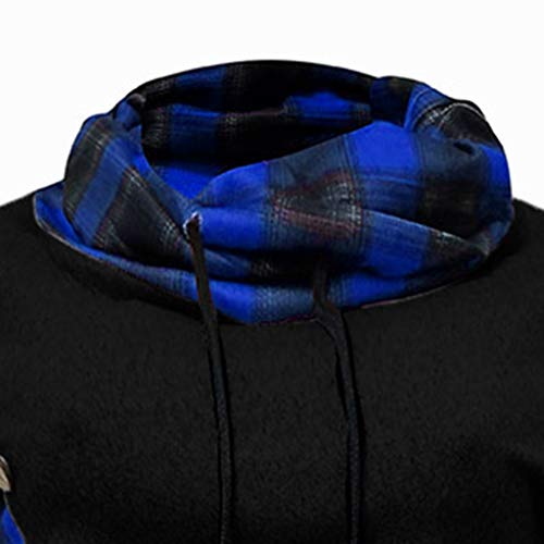 hoge Tops Bbd dames Trui met Slim Fit capuchon Dasongff Hoodiesweatshirt kraag vrouwen Blauw Jurk Truien met Solid 1wYaqv