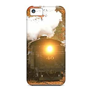 Saraumes Diy For SamSung Galaxy S4 Case Cover Hybrid PC Silicon Bumper Fallen Leaves On The Track