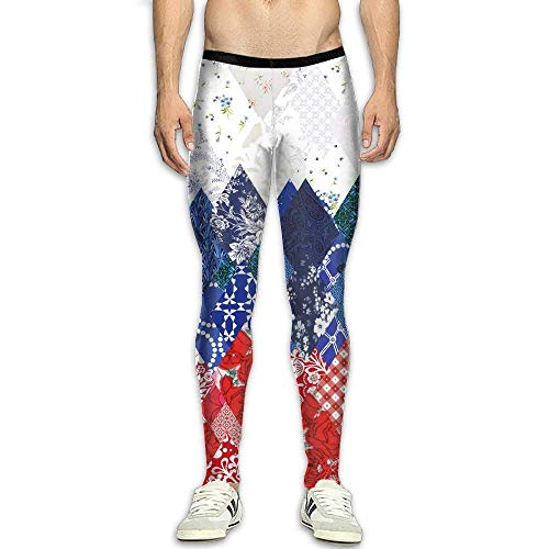 Men's Compression Pants Sochi Russia Flag 3D Print Baselayer Cool Dry Sports Thermal Tights Leggings Running Fitness ()