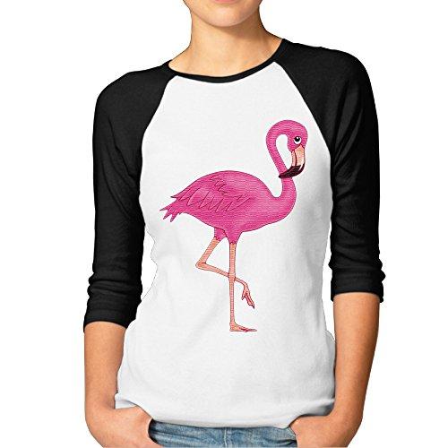 Live Adult T-shirt - Women's The Cute Beautiful Pink Flamingo Poster Toddler Raglan Shirts