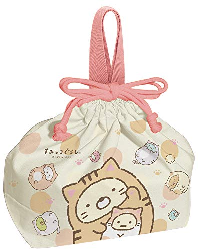 Skater Sumikko Gurashi Drawstring Pouch Bag (Warm Day) for Lunch Bento Box KB7 from Japan