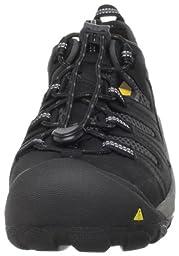 KEEN Utility Men\'s Atlanta Cool Steel Toe Work Shoe,Black,9.5 D  US
